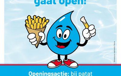 Spetterende openingsactie kiosk zwembad Splash!