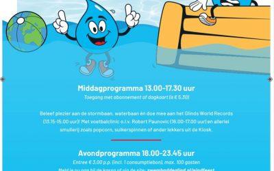 Eindfeest 'Around the World' in Splash Openluchtbad De Glind