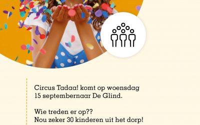 Circusshow door kinderen en jongeren uit De Glind voor heel het dorp